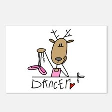 Dancer Reindeer Postcards (Package of 8)