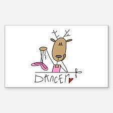 Dancer Reindeer Rectangle Decal