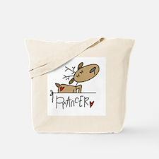 Prancer Reindeer Tote Bag