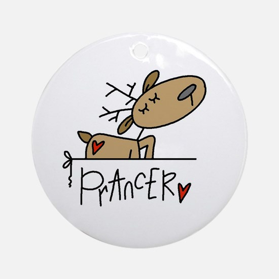 Prancer Reindeer Ornament (Round)