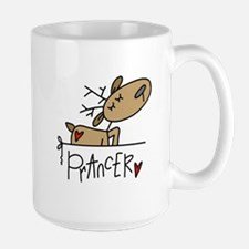 Prancer Reindeer Ceramic Mugs