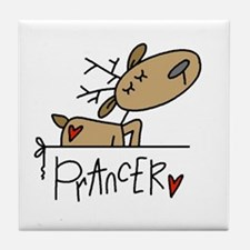 Prancer Reindeer Tile Coaster