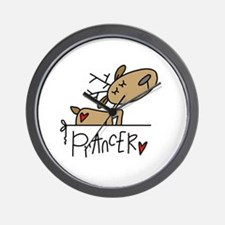 Prancer Reindeer Wall Clock
