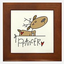 Prancer Reindeer Framed Tile