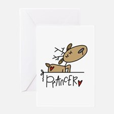 Prancer Reindeer Greeting Card