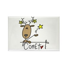 Comet Reindeer Rectangle Magnet (100 pack)