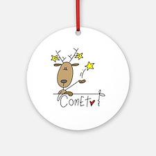 Comet Reindeer Ornament (Round)