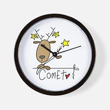 Comet Reindeer Wall Clock