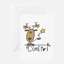 Comet Reindeer Greeting Card