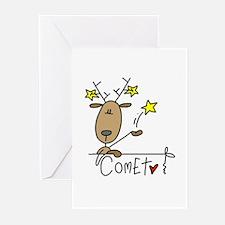 Comet Reindeer Greeting Cards (Pk of 10)