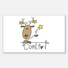 Comet Reindeer Rectangle Decal