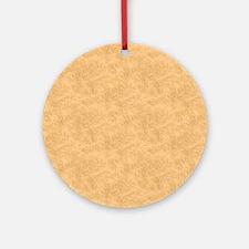 Tan Parchment Look Ornament (Round)
