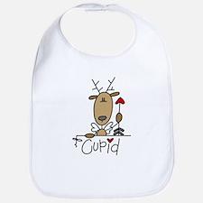 Cupid Reindeer Bib