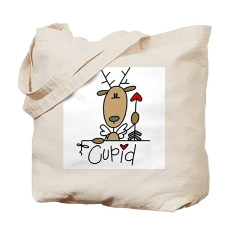 Cupid Reindeer Tote Bag