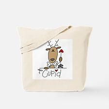 Cupid Reindeer Tote Bag