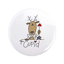 "Cupid Reindeer 3.5"" Button"