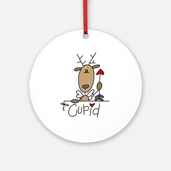 Cupid Reindeer Ornament (Round)