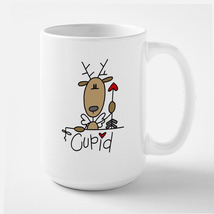 Cupid Reindeer Large Mug
