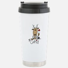 Cupid Reindeer Stainless Steel Travel Mug