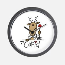 Cupid Reindeer Wall Clock