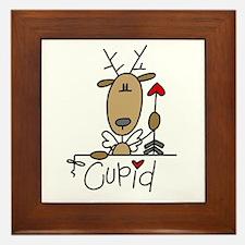 Cupid Reindeer Framed Tile