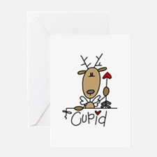 Cupid Reindeer Greeting Card