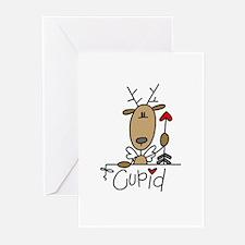 Cupid Reindeer Greeting Cards (Pk of 10)