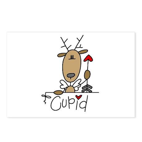 Cupid Reindeer Postcards (Package of 8)