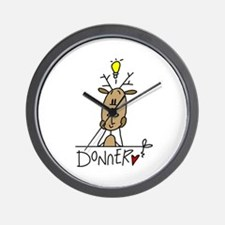Donner Reindeer Wall Clock
