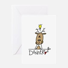 Donner Reindeer Greeting Card