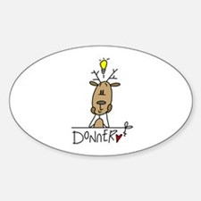 Donner Reindeer Oval Decal
