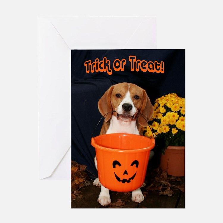 Halloween Beagle Greeting Card