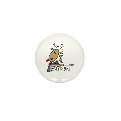 Blitzen Reindeer Mini Button (10 pack)