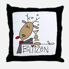 Blitzen Reindeer Throw Pillow