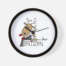 Blitzen Reindeer Wall Clock