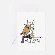 Blitzen Reindeer Greeting Card