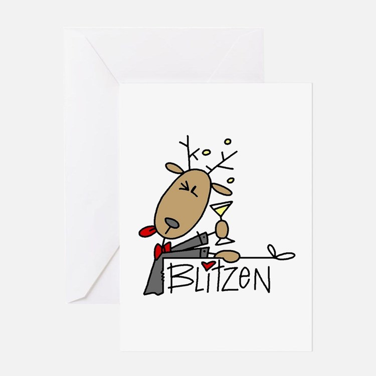 Blitzen Reindeer Greeting Card