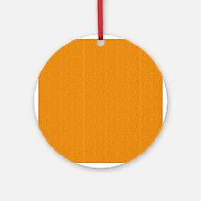 Orange Linen Look Ornament (Round)