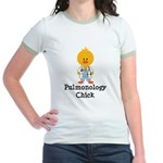 Pulmonology Chick Jr. Ringer T-Shirt