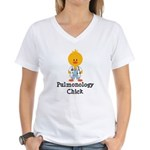 Pulmonology Chick Women's V-Neck T-Shirt