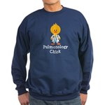 Pulmonology Chick Sweatshirt (dark)