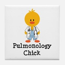 Pulmonology Chick Tile Coaster