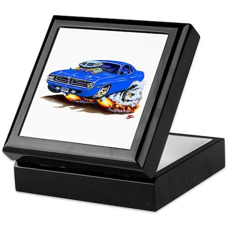Cuda Blue Car Keepsake Box