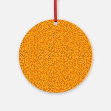 Rough Orange Ornament (Round)