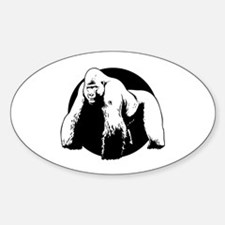 Silverback Oval Decal