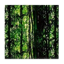 Bamboo Forest Look Tile Coaster