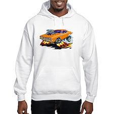 Plymouth Cuda Orange Car Hoodie