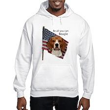 Cute Beagle american flag Hoodie