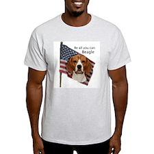 Cute Beagle american flag T-Shirt