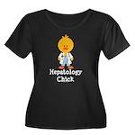 Hepatology Chick Women's Plus Size Scoop Neck Dark